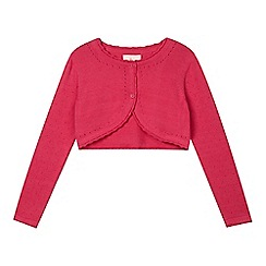 RJR.John Rocha - Girls' pink pointelle cardigan