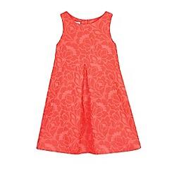 RJR.John Rocha - Girls' pink neon jacquard dress