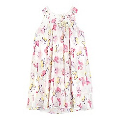 RJR.John Rocha - Girls' off white butterfly print trapeze dress