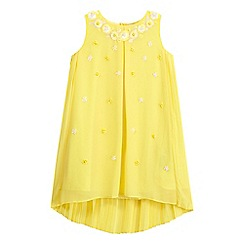 RJR.John Rocha - Girls' yellow sequin trapeze dress
