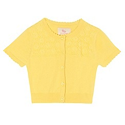 RJR.John Rocha - Girls' yellow lace cardigan