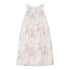 RJR.John Rocha - Girls' white pleated floral dress