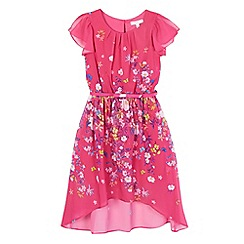 RJR.John Rocha - Girls' pink floral hi low dress