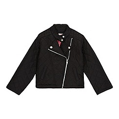bluezoo - Girls' black quilted biker jacket