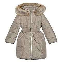 bluezoo - Girls' grey padded belted coat