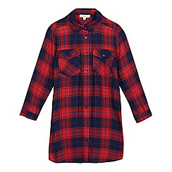 bluezoo - Girls' red checked shirt dress