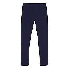 bluezoo - Girls' navy elasticated leggings