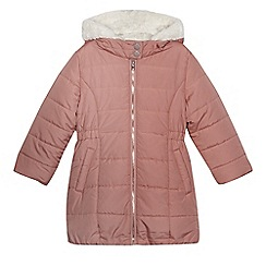bluezoo - Girls' pink padded zip up hooded coat