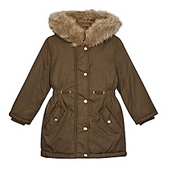 bluezoo - Girls' khaki parka coat