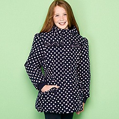bluezoo - Girl's navy spotted padded coat
