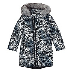 bluezoo - Girls' grey leopard print padded coat