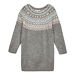 bluezoo - Girls' grey gem embellished jumper