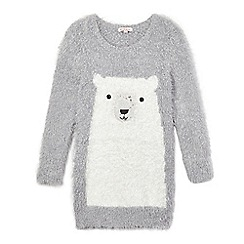 bluezoo - Girls' grey polar bear tunic