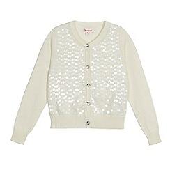 bluezoo - Cream sequin cardigan