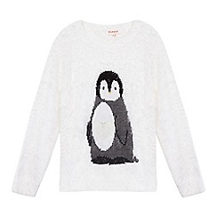 bluezoo - Girls' white penguin jumper