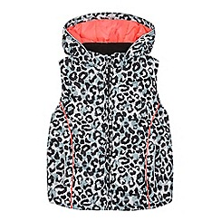 bluezoo - Girls' grey animal print padded gilet