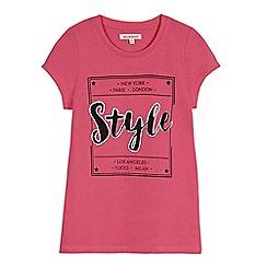bluezoo - Pink 'Style' slogan t-shirt