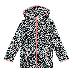 bluezoo - Girls' leopard print hoodie