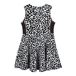 bluezoo - Girls' black animal print dress