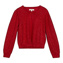 bluezoo - Girls' red glitter cardigan