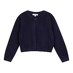 bluezoo - Girls' navy glitter cardigan