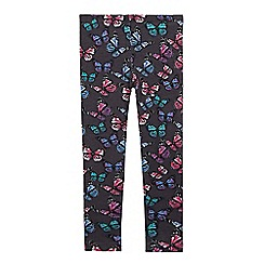 bluezoo - Girls' grey butterfly print leggings