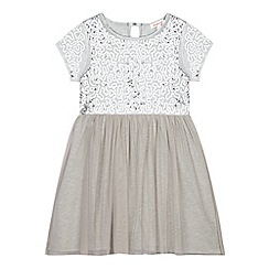 bluezoo - Girls' grey sequin embellished dress