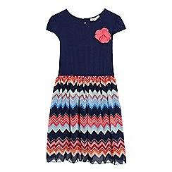 bluezoo - Girls' multi-coloured floral applique dress