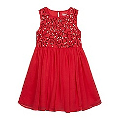 bluezoo - Girls' red sequin embellished dress