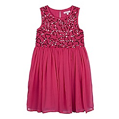 bluezoo - Girls' pink sequin embellished dress