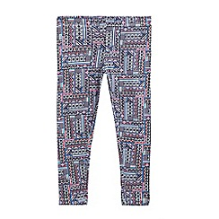 bluezoo - Girls' multi-coloured Aztec print leggings