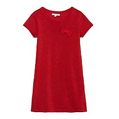bluezoo - Girls' red sparkle shift dress