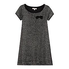 bluezoo - Girls' black sparkle shift dress