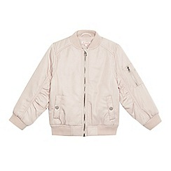 bluezoo - Girls' light pink bomber jacket