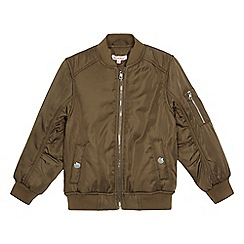 bluezoo - Girls' khaki bomber jacket