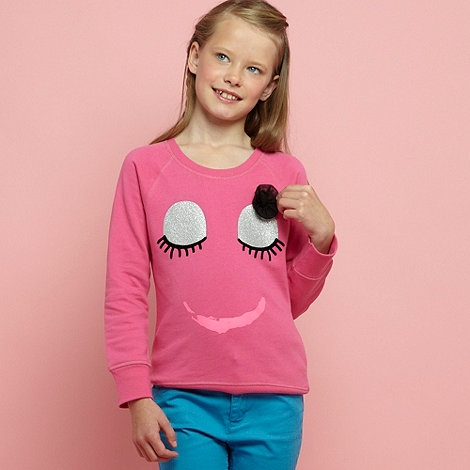bluezoo - Girl+s eyelash stripe sweat top