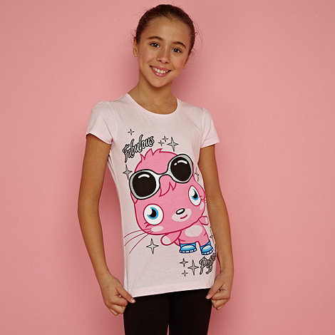 Moshi Monsters - Girl+s pale pink +Poppet+ t-shirt