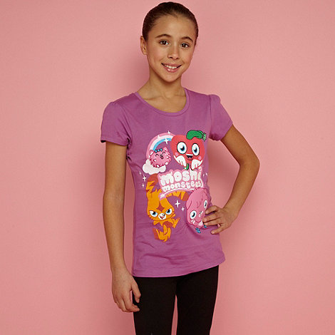 Moshi Monsters - Girl's purple 'Moshi Monsters' t-shirt