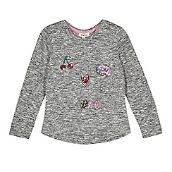 bluezoo - Girls' grey applique top