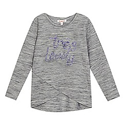 bluezoo - Girls' grey sequinned top