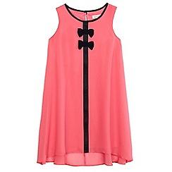 bluezoo - Girls' pink bow applique sleeveless dress