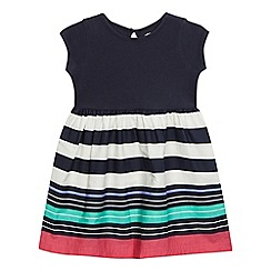 bluezoo - Girls' navy striped print dress