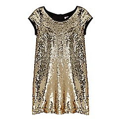 bluezoo - Girls' gold sequinned dress