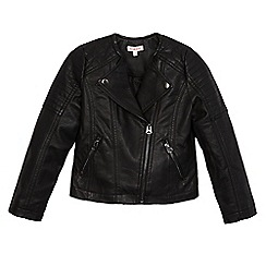 bluezoo - Girls' black biker jacket