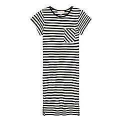 bluezoo - Girls' black elasticated striped dress