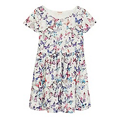 bluezoo - Girls' multi-coloured butterfly print dress