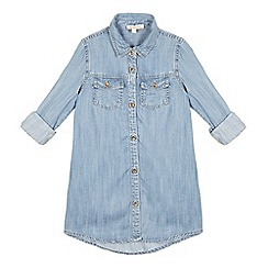 bluezoo - Girls' blue longline denim shirt