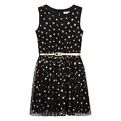 bluezoo - Girls' sleeveless star print dress and detachable belt