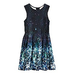 bluezoo - Girls' navy galaxy print dress