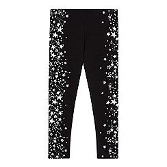 bluezoo - Girls' black star print leggings